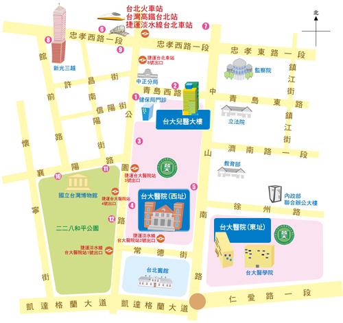 台大醫院地圖